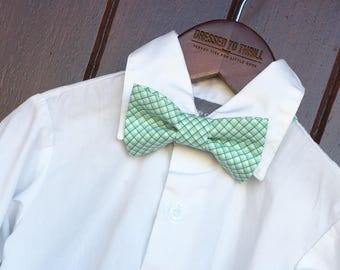Easter Bowtie, Childs Easter Outfit, Little Boy Easter, Easter tie, toddler bow tie, baby tie, boys Easter outfit, boy aqua bow tie