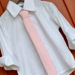 Blush Pink Little Boy Skinny tie, Pale Pink Little boy skinny tie, modern pink skinny tie, child skinny tie, blush necktie, baby pink tie