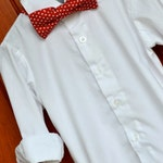 Red & White Polka Dot Christmas Holiday Bowtie Bow Tie - Baby / Toddler / Child