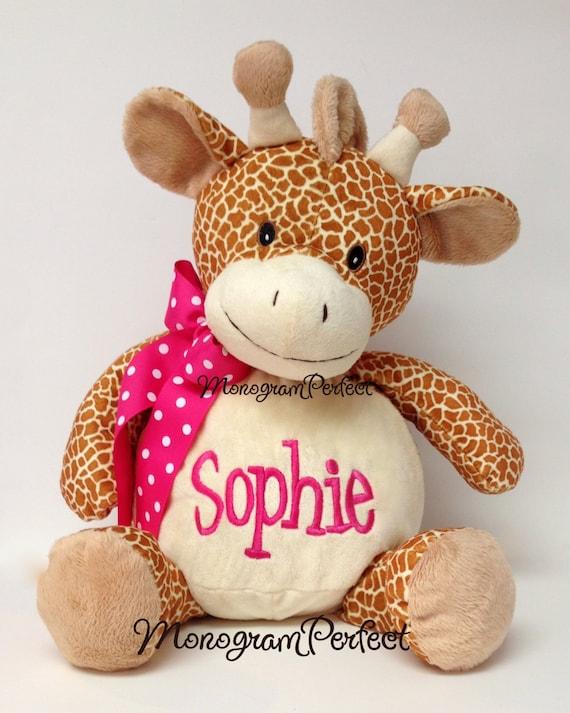 Personalized 16 Plush Giraffe Stuffed Animal Etsy
