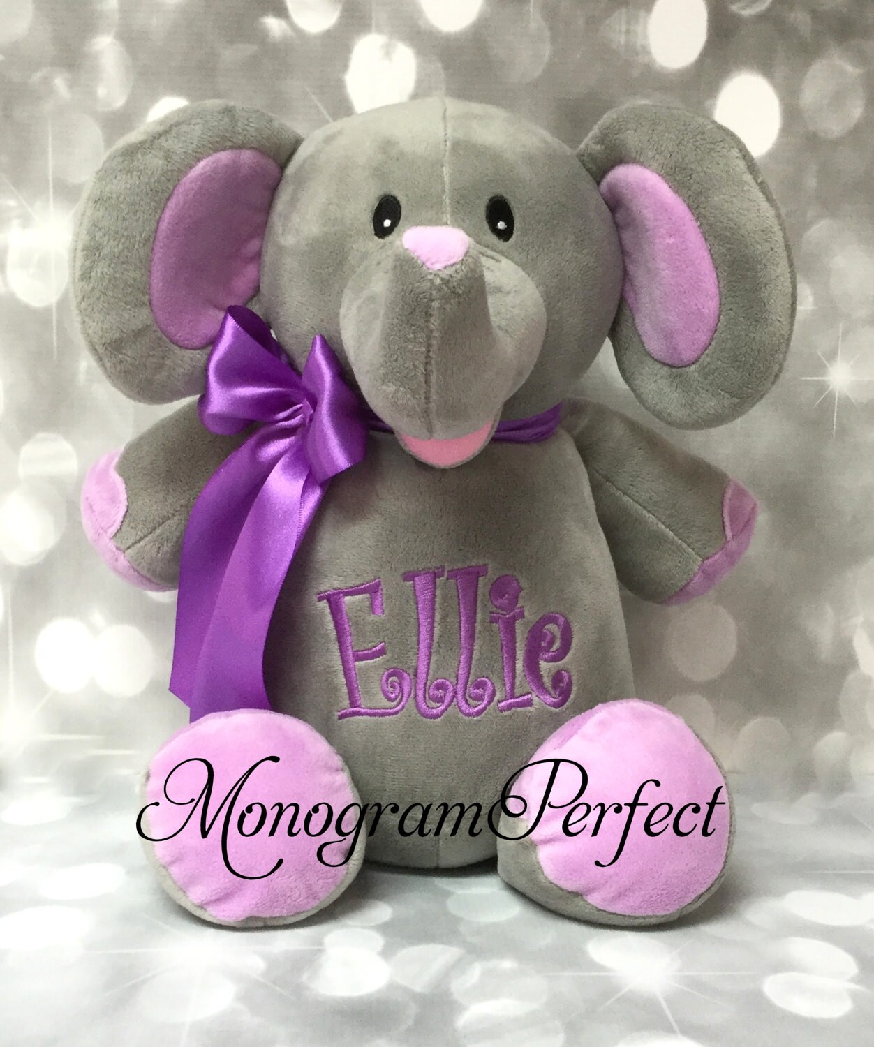 Ellie Already Personalized 16 Plush Elephant Etsy