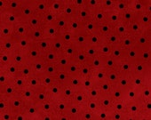 Woolies Flannel - Black Dots on Red - MASF18506-R - Polka Dots - Maywood Studios - Maywood Flannel - Bonnie Sullivan - One Half Yard