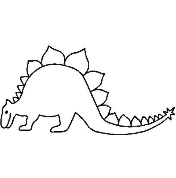 Vorstellung Schablone Vorlage: STEGOSAURUS Dinosaurier | Etsy