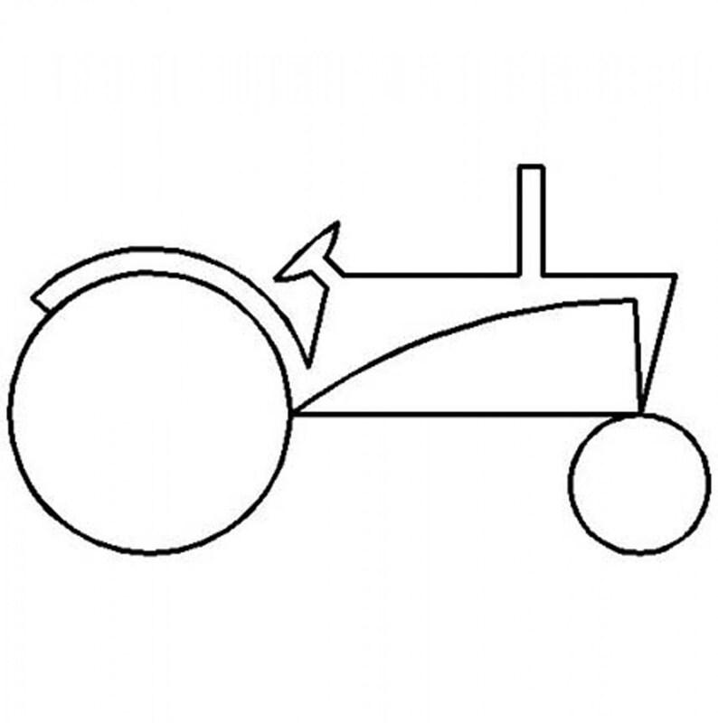 Vorstellung Schablone Vorlage Traktor Layer Cake Etsy