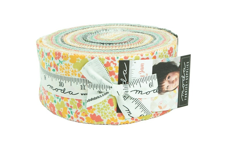 Layer Cake Stripe-Cake Mix Bella Solids 29060 -Yellow Gray Blue Pink Floral by Corey Yoder for Moda Green STRAWBERRY JAM