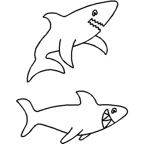Shark Art And Craft Template The Largest Shark