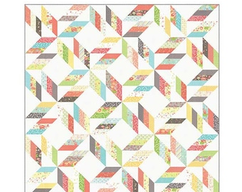 PATTERN:  Jelly Roll Friendly - BACKROADS - CQ 114 - Coriander Quilts by Corey Yoder - #114 - Twin Size