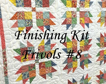 """Finishing KIT - FRIVOLS 8 - Bread and Butter - by American Jane for Moda - """"Brio"""" Quilt Pattern"""