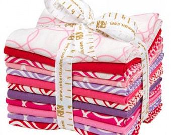 METRO LIVING - Dress Up Colorstory - FQ-854-12 - Fat Quarter Bundle- 12 Fat Quarters - Robert Kaufman - Modern - Geometric - Pink/Red/Purple