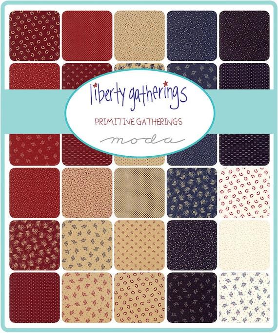12709 29 1//2 yd Moda WOVEN Fabric ~ LIBERTY GATHERINGS ~ Primitive Gatherings