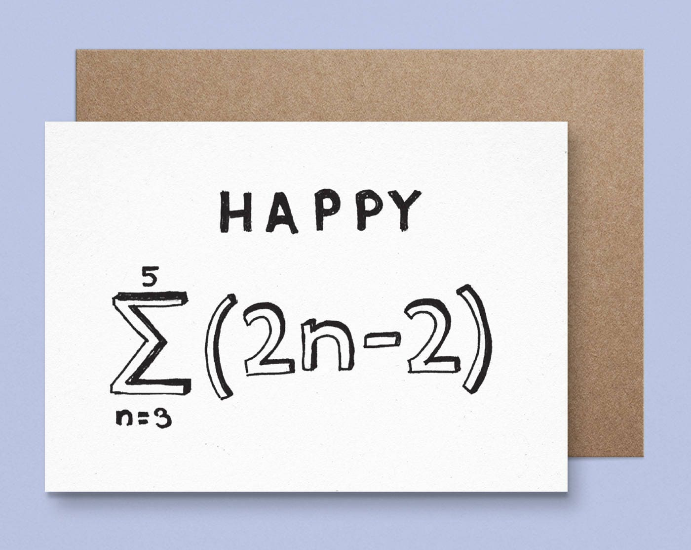 Maths 18th Birthday Card