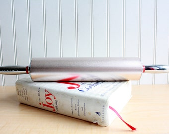 Vintage Metal Anodized Aluminum Rolling Pin