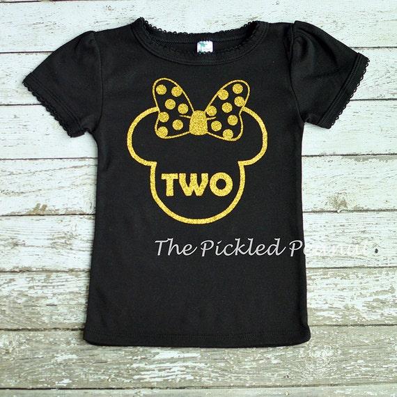 41c42380f95 Black Gold Glitter Minnie Mouse Birthday Shirt 1st Birthday   Etsy