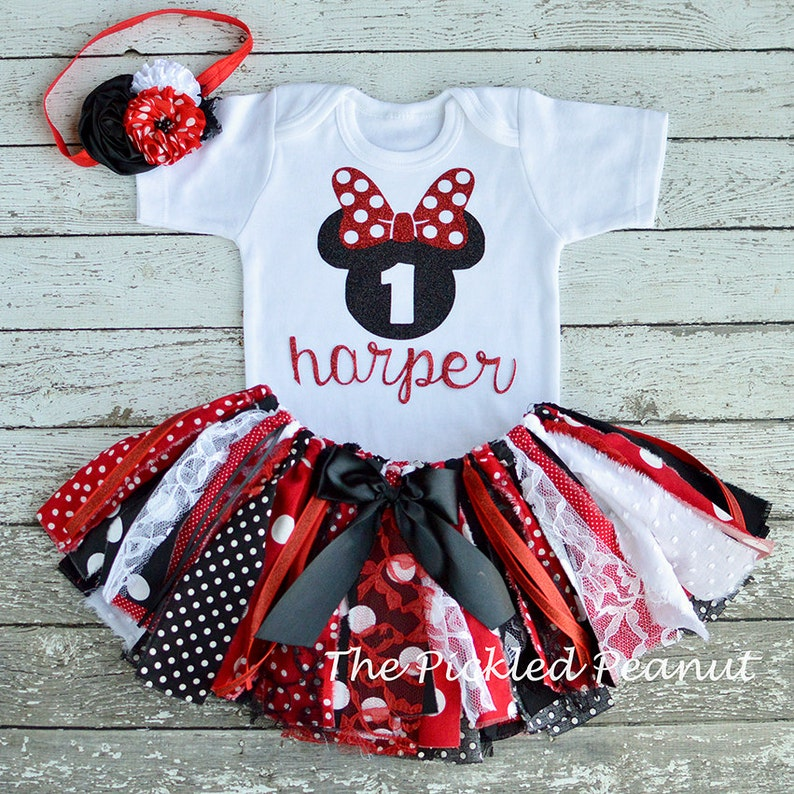 ee5588535 Minnie Mouse 1st Birthday Girl Outfit 1st Birthday Outfit Baby | Etsy