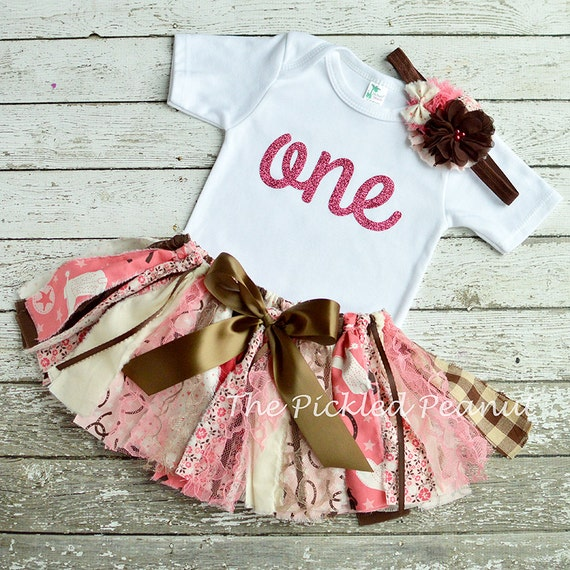 Pink Cowgirl Birthday Outfit Baby Tutu
