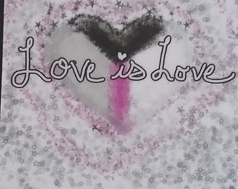 Demisexual Love is Love decal