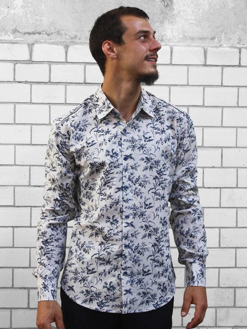 b77d3fe577 Camisa pajaros Toile de Jouy BAÏSAP