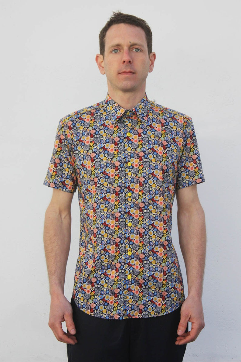 1d42d31ea4f Liberty print shirt short sleeve Dandelion