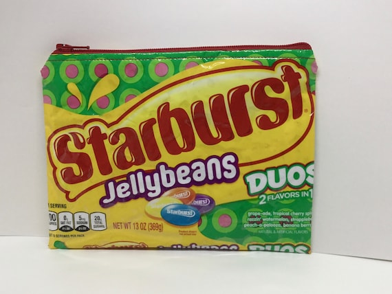 Phenomenal New Starburst Jellybeans Duos Candy Wrapper Up Cycled Zippered Bag Pouch Squirreltailoven Fun Painted Chair Ideas Images Squirreltailovenorg