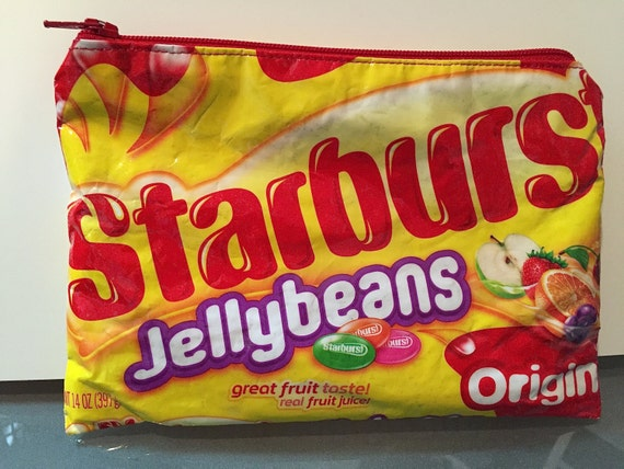 Strange Starburst Jelly Beans Candy Wrapper Up Cycled Zippered Bag Pouch Squirreltailoven Fun Painted Chair Ideas Images Squirreltailovenorg