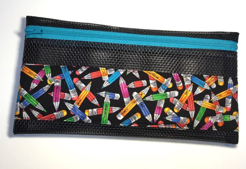 Stubby Assorted Color Pencils Zippered Pencil Bag