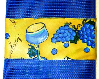 Blue Wine Zippered Pouch