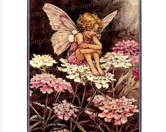 Flower Fairy Story Picture Print Fantasy Girl Bedroom Child Playroom Baby Nursery Garden Antique Victorian Wall Art Decor Candytuft bf 326