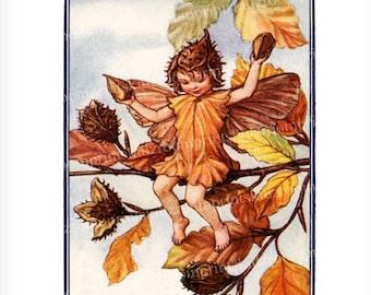 Flower Fairy Victorian Watercolor Painting Book Print Fantasy Girl Bedroom Child Baby Nursery Garden Old Antique Wall Art Beechnut bf 304