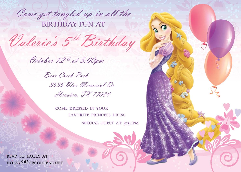 Rapunzel Birthday Invitation   Etsy