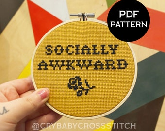Funny Awkward Penguin Penguin Meme Cross Stitch Pattern PDF