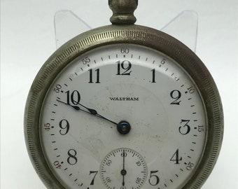 In Design; Active Antique Waltham Pocket Watch Open Case Gf Novel