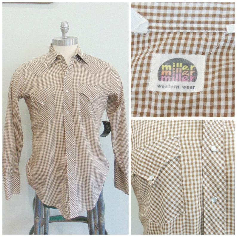 Vintage 1970's Western Shirt / Vintage Menswear / Brown image 0