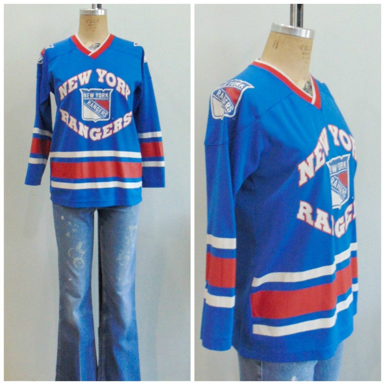 separation shoes 16b57 373cf Vintage Rangers Jersey / NY Rangers / Hockey Jersey / 1980's / 1990's /  Size Small