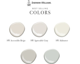 Best Selling Sherwin-Williams Colors - Set of 5