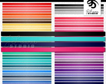 Digital Clipart-63 Colorful Satin Ribbon Borders-Satin Trim-Rainbow Digital Borders-Digital Scrapbook Elements-Instant Download Clip Art