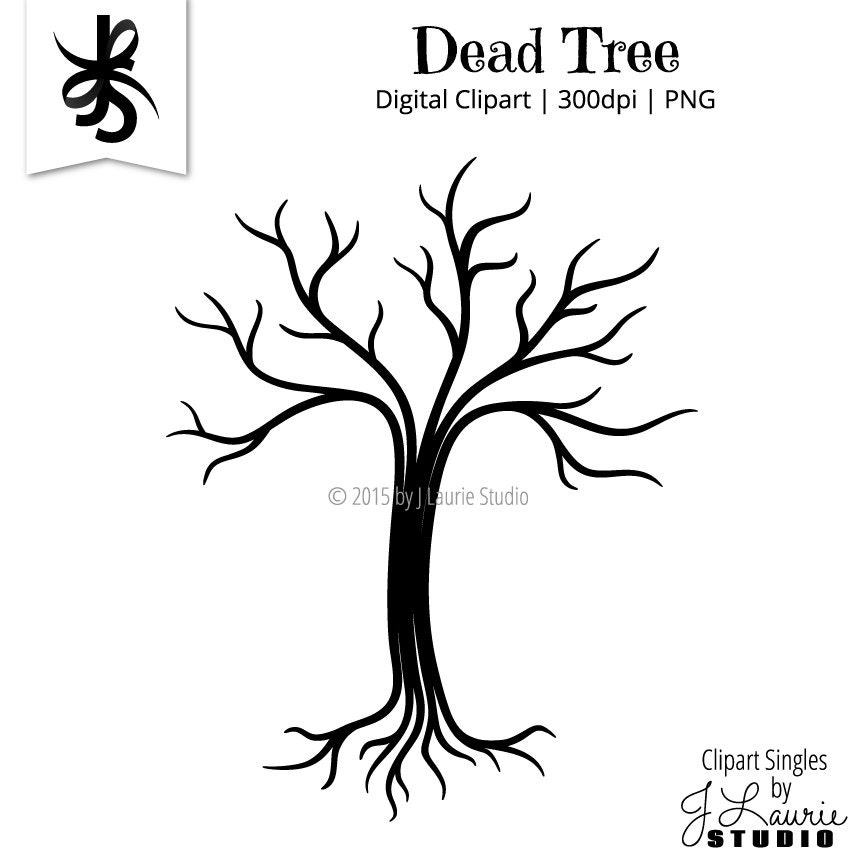 Digital Clipart Clipart Singles Dead Tree Halloween