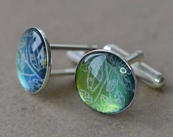 Sterling silver cufflinks green cufflinks sterling silver jewelry for men, cufflinks for sale, cufflinks for dad, cufflinks sparkle, Ag925