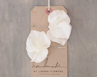 Ivory White Hydrangea Hair Flowers Wedding Hair Accessories