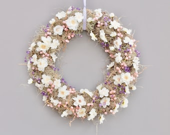 Natural Spring Wreath , Delicate Blossom and Moss Wreath