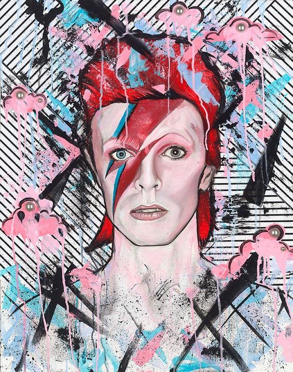 """Ziggy Stardust  Art Photo Print 14 x 11/"""" David Bowie"""
