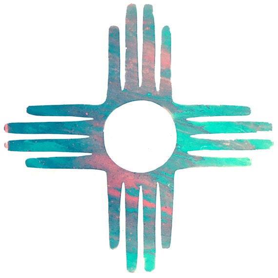 Zia Symbol New Mexico Art Print From Original Painting Etsy