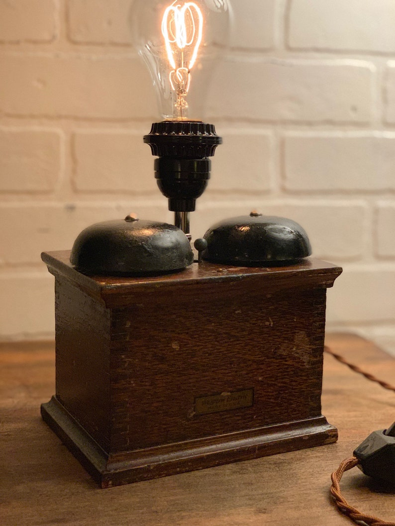 Western Electric Candlestick Telephone ringer /& Edison-style Accent Lamp.