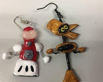 MST3K - Tom Servo & Crow T Robot Earrings