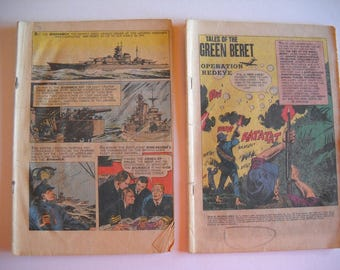 comic book, Tales of the Green Beret, Operation Redeye, Sink the Bismarck, magazine, vintage