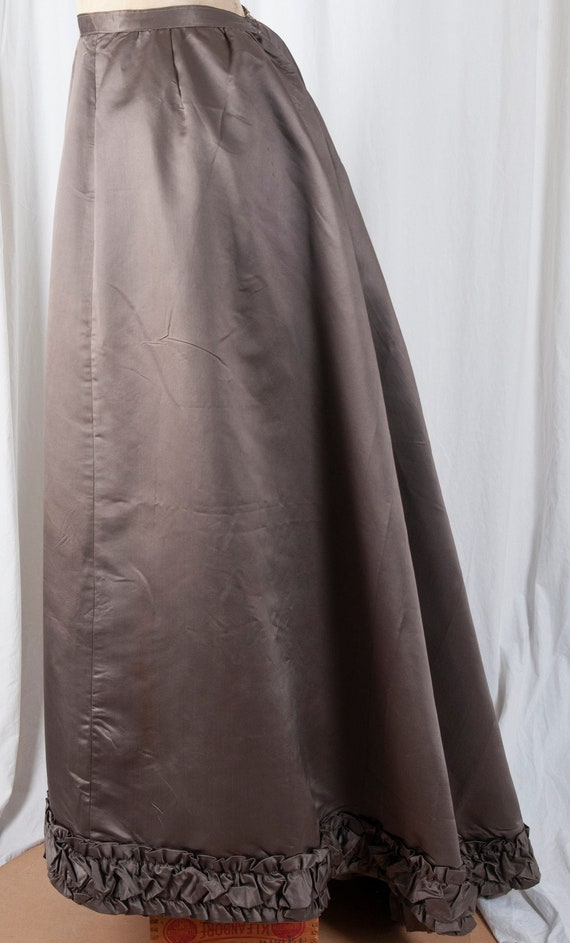 Authentic, Antique, brown satin, Formal Victorian