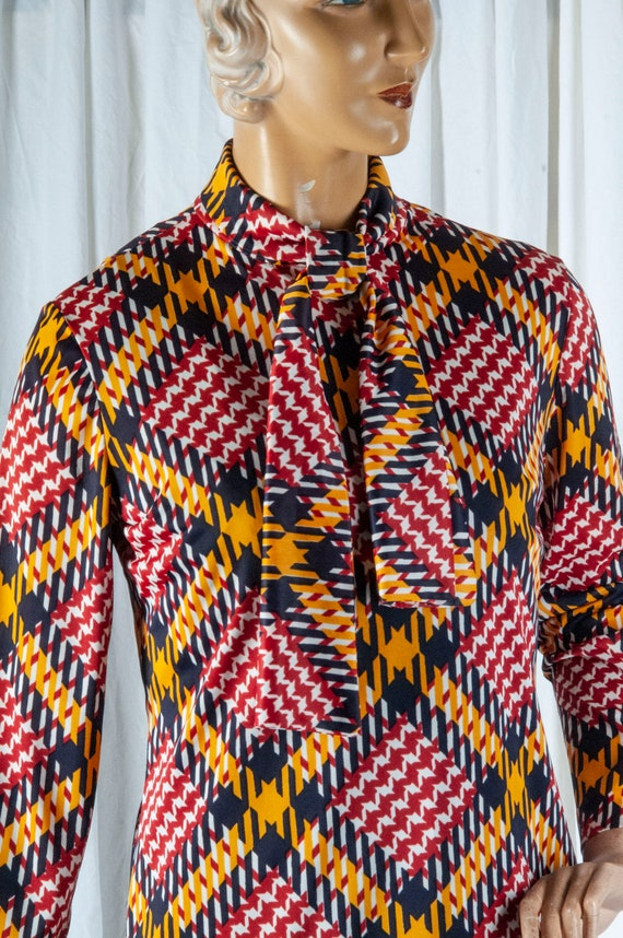 1970s or 80s Alex Coleman blouse with self tie col
