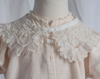 "1950s or 60s lace ""Peter Pan"" collar, infant?, adult. Midcentury, Baby Boomers, traditional, sewing"