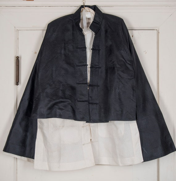 Vintage Japanese 3 piece Tang suit with Tabi. Shoe
