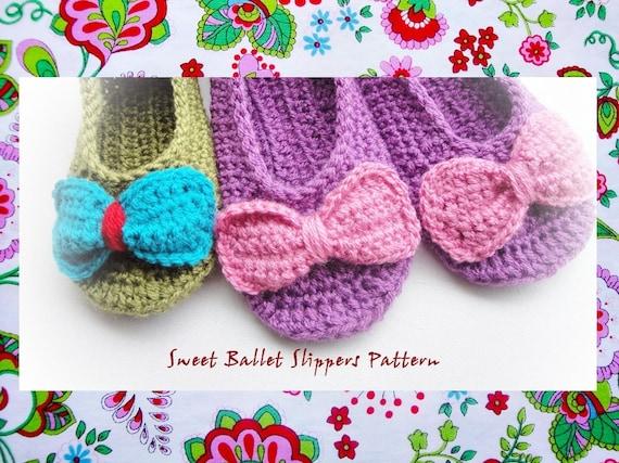 Sweet Ballet Slippers Crochet Pattern Etsy