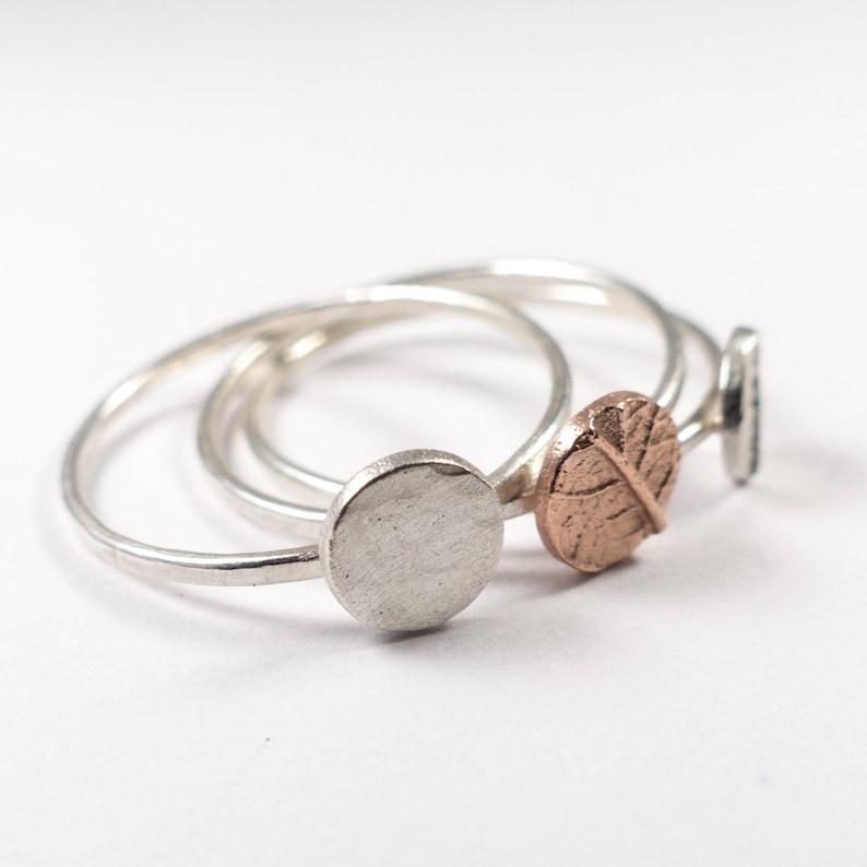 Thin Silver Band Ring Multi Band Ring Stackable Rings Skinny Silver Ring Sterling Silver Ring Set Stacking Ring Set